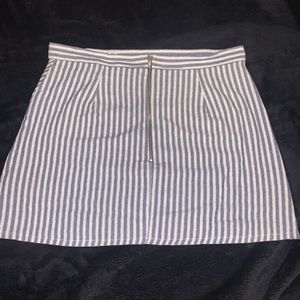 White and blue stripped skirt!